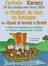 visuel affiche festival livre bretagne