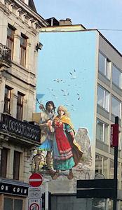 fresque thorgal bruxelles