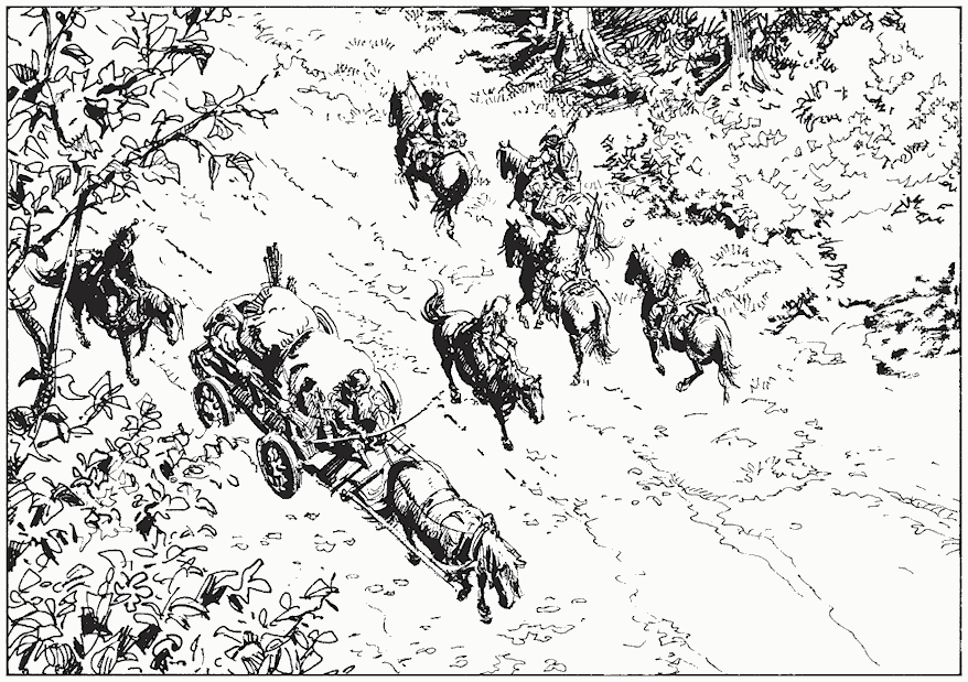 Des trames dans Les archers