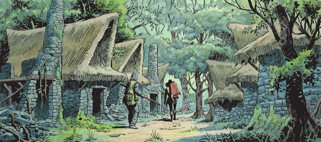 Kriss traverse un village presque désert