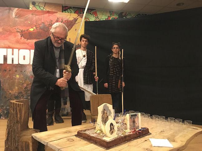 Exposition Thorgal Angoulème librairie cosmopolite en collaboration avec le festival BD Boum illustration sonore Jean-Luc ANGER